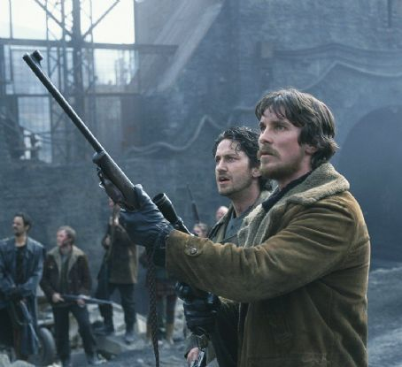 Reign of Fire Gerard Butler and Christian Bale in Touchstone's  - 2002