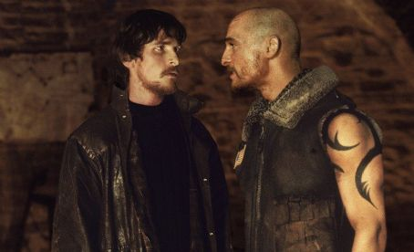 Reign of Fire Christian Bale and Matthew McConaughey in Touchstone's  - 2002