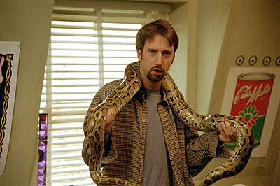 Road Trip Barry (Tom Green) is has a hard time getting Mitch the snake to eat in Dreamworks' comedy  - 2000