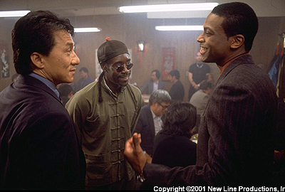 Chris Tucker Jackie Chan, Don Cheadle and  in New Line Cinema's Rush Hour 2 - 2001