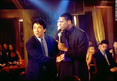 Chris Tucker Jackie Chan and  in New Line Cinema's Rush Hour 2 - 2001