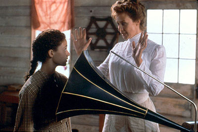 Songcatcher Emmy Rossum and Janet McTeer in Lions Gate's  - 2001