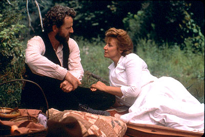 Songcatcher Aidan Quinn and Janet McTeer in Lions Gate's  - 2001