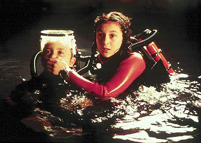 Carmen Cortez Daryl Sabara and Alexa Vega in Dimension's Spy Kids - 2001
