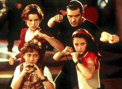 Carmen Cortez Clockwise from top: Carla Gugino, Antonio Banderas, Alexa Vega and Daryl Sabara in Dimension's Spy Kids - 2001