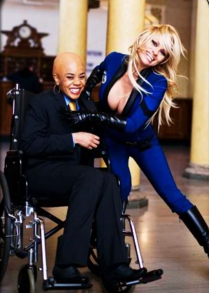 Sue Storm Regina Hall as Mrs. Xavier and Pamela Anderson as The Invisible Girl in action comedy 'Superhero Movie.'