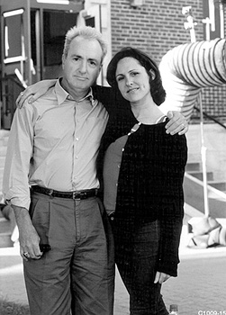 Lorne Michaels , producer, with Molly Shannon, the star and creator of the lead character in Superstar - 10/99