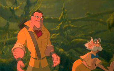 Tarzan Clayton and Professor Porter in Disney's  - 1999