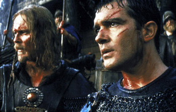 Dennis Storhøi Dennis Storhoi and Antonio Banderas in The 13th Warrior
