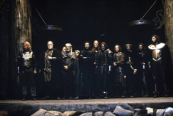 The 13th Warrior Dennis Storhoi, Asbjorn Riis, Albie Woodington, Mischa Hausserman, Vladimir Kulich, Oliver Sveinall, Antonio Banderas, Tony Curran and Neil Maffin in