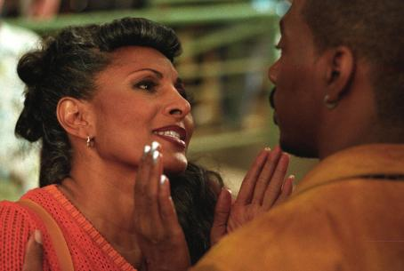 The Adventures of Pluto Nash Pam Grier and Eddie Murphy in  - 2002