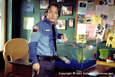 Rob Schneider  plays Marvin Mange, a wannabe cop whose newfound vitality and strength come from a questionable source in the Revolution Studios/Columbia Pictures release, The Animal - 2001