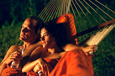 John Benjamin Hickey  and Parker Posey in Fine Line's The Anniversary Party - 2001