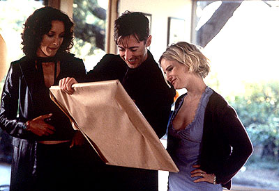 Alan Cumming Jennifer Beals,  and Jennifer Jason Leigh in Fine Line's The Anniversary Party - 2001