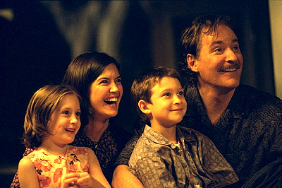 Greta Kline, Phoebe Cates, Owen Kline and Kevin Kline in Fine Line's The Anniversary Party - 2001