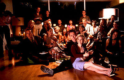 Alan Cumming Directors  and Jennifer Jason Leigh with the cast of Fine Line's The Anniversary Party - 2001