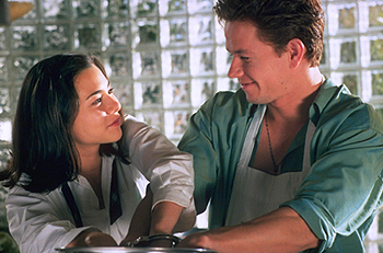 The Big Hit China Chow and Mark Wahlberg in Tristar's  - 1998