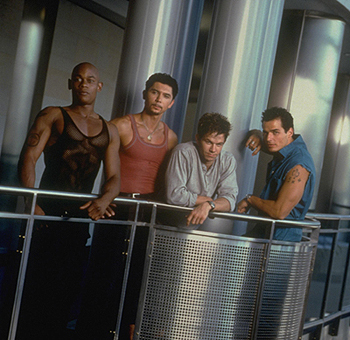 The Big Hit Bokeem Woodbine, Lou Diamond Phillips, Mark Wahlberg and Antonio Sabato Jr. in Tristar's  - 1998