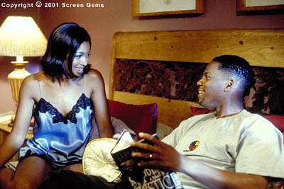 D.L. Hughley Married life for Shelia and Derrick West (Tamala Jones and ) has its ups and downs in Gary Hardwick's The Brothers from Screen Gems - 2001