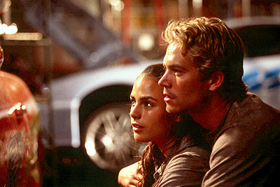 Paul Walker and Jordana Brewster Jordana Brewster and Paul Walker in Universal's The Fast and The Furious - 2001