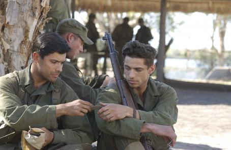 James Carpinello Left to right: Mark Consuelos as GUTIERREZ and  as CPL. ALITERI in John Dahl's THE GREAT RAID. Photo Pierre Vinet Courtesy: Miramax Films