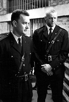 The Green Mile Tom Hanks and David Morse in Castle Rock's  - 12/99