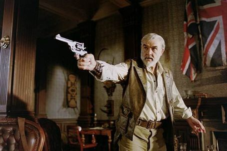 The League of Extraordinary Gentlemen Sean Connery as Allan Quatermain in 20th Century Fox's  - 2003