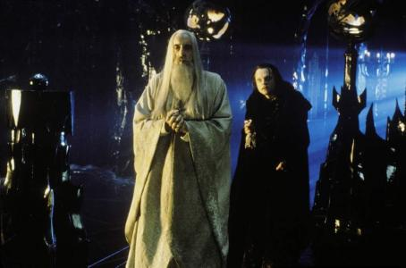 Christopher Lee  as Saruman and Brad Dourif as Wormtongue in New Line's The Lord of The Rings: The Two Towers - 2002
