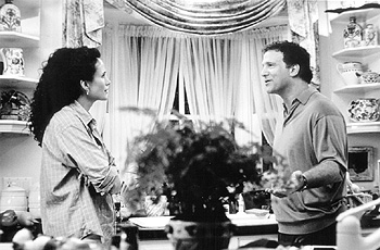 Albert Brooks Andie MacDowell and  in USA Films' The Muse - 1999