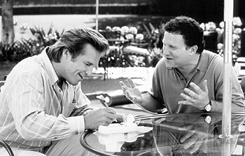Albert Brooks Jeff Bridges and  in USA Films' The Muse - 1999