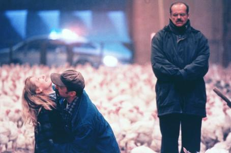 Michael O'Keefe Patricia Clarkson, Michael O'Keefe and Jack Nicholson in Warner Brothers' The Pledge - 2001