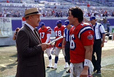 Gene Hackman  and Keanu Reeves in Warner Brothers' The Replacements - 2000