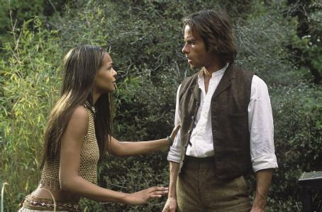 Samantha Mumba  as Eloi woman Mara and Guy Pearce as scientist and inventor Alexander Hartdegen in Dreamworks' and Warner Brothers' The Time Machine - 2002