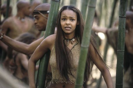 Samantha Mumba  as Eloi woman Mara in Dreamworks' and Warner Brothers' The Time Machine - 2002