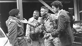 Cliff Curtis Fadil Al-Badra, Ice Cube, George Clooney and  in Warner Brothers' Three Kings - 1999
