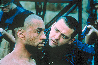 Harry Lennix and Angus Macfadyen in Fox Searchlight's Titus - 1999