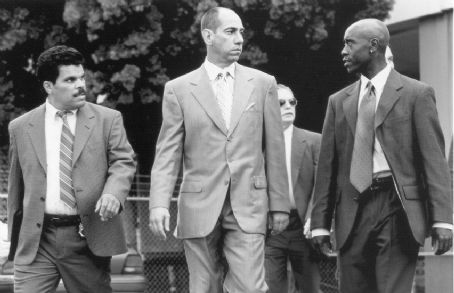 Miguel Ferrer Luis Guzman,  and Don Cheadle in USA Films' Traffic - 2000