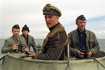 Will Estes , Jack Noseworthy, Matthew McConaughey and Jake Weber in Universal's U-571 - 2000