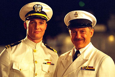 Harvey Keitel Matthew McConaughey and  in Universal's U-571 - 2000