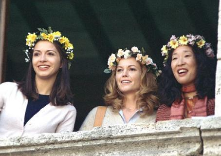 Under the Tuscan Sun Chiara (Giulia Steigerwalt), Frances (Diane Lane) and Patti (Sandra Oh)