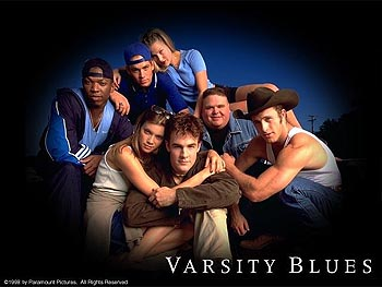 Varsity Blues Top: Eliel Swinton, Paul Walker, Ali Larter Bottom: Amy Smart, James Van Der Beek, Ron Lester and Scott Caan in