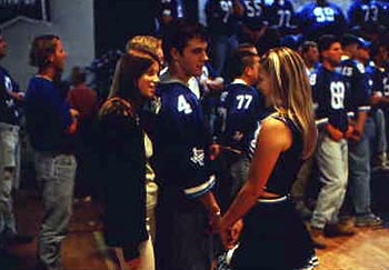 Varsity Blues Amy Smart, James Van Der Beek and Ali Larter in