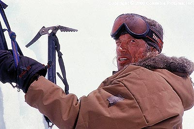 Scott Glenn  portrays Montgomery Wick, an eccentric yet revered mountain climber, in the Columbia Pictures presentation, Vertical Limit - 2000
