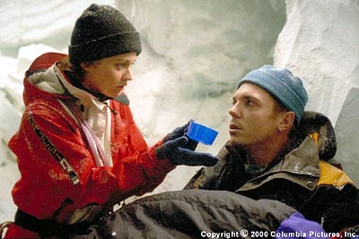 Nicholas Lea Trapped in a crevasse at 26,000 feet, where every breath is a frozen gasp for air and it takes a lifetime of effort simply to survive, Annie Garrett (Robin Tunney) tends to wounded climber and guide Tom McLaren () in the Columbia Pictures pres