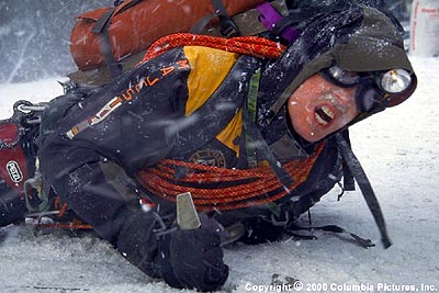 Nicholas Lea In the Columbia Pictures presentation Vertical Limit (2000),  plays respected and reliable expedition leader Tom McLaren, who despite dangerous weather conditions tries for the K2 summit at the insistence of his client, Elliot Vaughn.