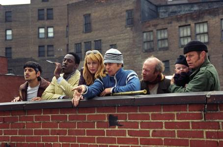 Isaiah Washington Andrew Davoli, , Patricia Clarkson, Sam Rockwell , Michael Jeter and William H. Macy  in Welcome to Collinwood - 2002