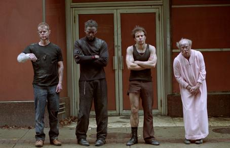 Isaiah Washington William H. Macy, , Sam Rockwell and Michael Jeter in Welcome to Collinwood - 2002