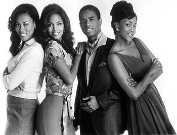 Larenz Tate Lela Rochon, Halle Berry,  and Vivica A. Fox in Warner Brothers' Why Do Fools Fall In Love? - 9/1998