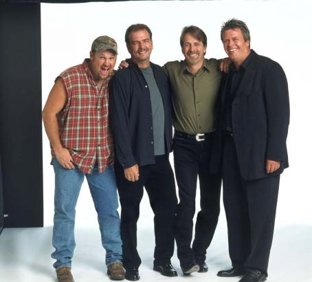 Jeff Foxworthy Renowned comedians Larry The Cable Guy, Bill Engvall,  and Ron White star in the feature film version of the hit comedy tour 'Blue Collar Comedy Tour:The Movie,' a Warner Bros. Pictures release.