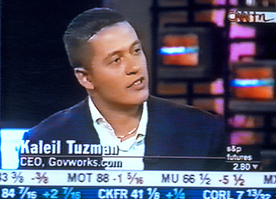 Startup.com CEO Kaleil Isaza Tuzman speaks on CNN about his new company and its $50 million worth in Artisan's  - 2001
